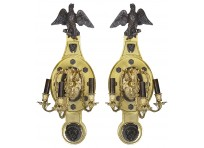 Pair of large Empire style wall lights.