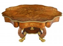 Centre Table, 19th Century Marquetry Inlaid