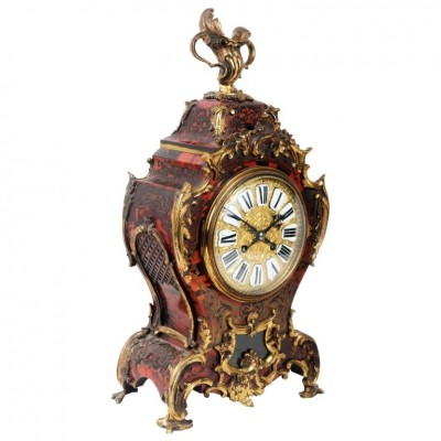19th Century French Boulle Mantle Clock