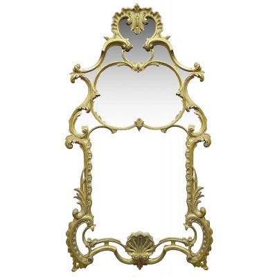 Large carved giltwood Chippendale style mirror.