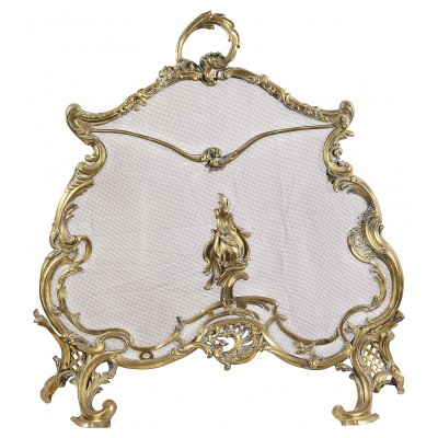 French Rococo style fire screen, circa 1900.