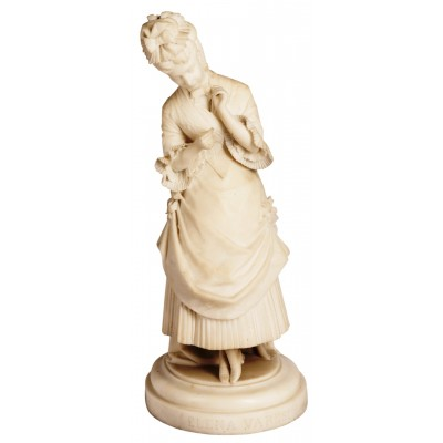 Marble statue of young girl, signed Ettore Ximenes (Italian, 1855-1926)