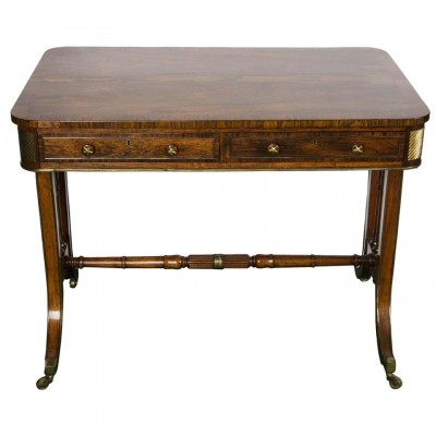 "Regency Period ormolu mounted, Library Table, circa 1820 36""(92cm) wide"